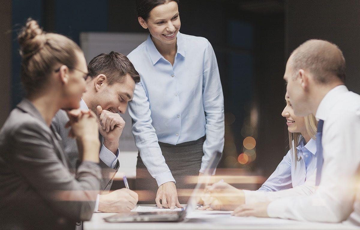 Business-Meeting auf Arbeit