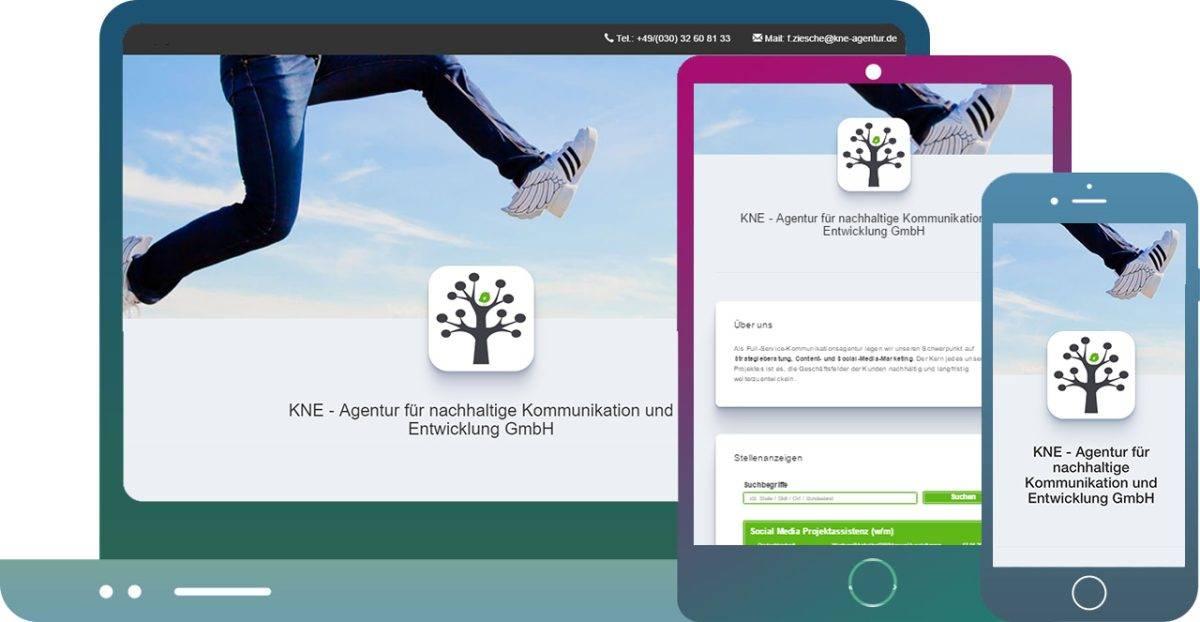 mobiloptimierte Karriereseite-KNE